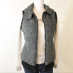 Marc New York Zip Puffer Vest with Button Neck